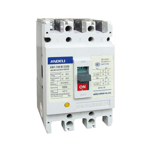 Автомат выключатель ANDELI AM1-100L 3P 63A, 80A, 100A
