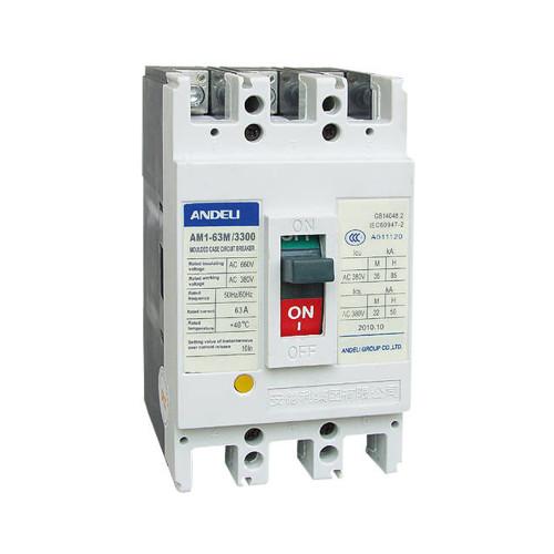 Автомат выключатель ANDELI AM1-63L 3P 10A, 16A, 25A, 32A, 40A, 50A, 63A