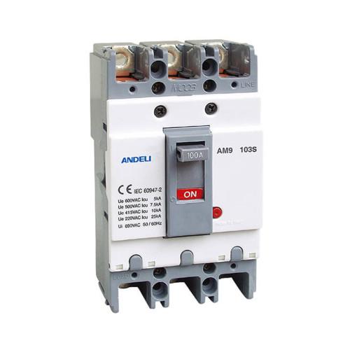 Автомат выключатель ANDELI AM9-103E 3P 100A