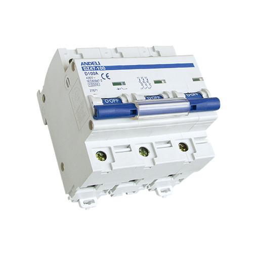 Автомат выключатель ANDELI DZ 47-100D-3P 63A, 80A, 100A, 125A 6кА