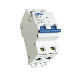 Автомат выключатель ANDELI DZ 49-63-2P 2A 6кА