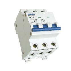 Автомат выключатель ANDELI DZ 49-63-3P 2A, 6A, 10A, 16A, 25A, 32A, 40A 6кА