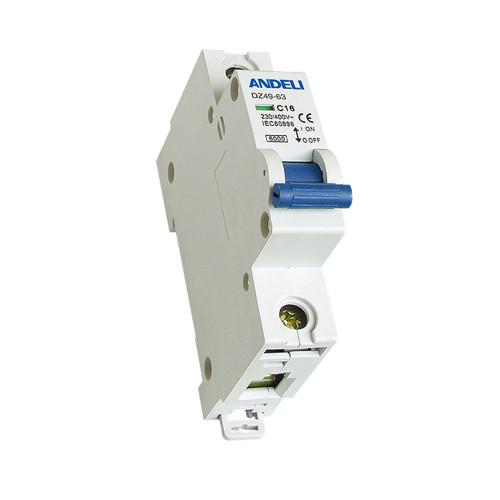 Автомат выключатель ANDELI DZ 49-63-1P 1A, 2A, 3A 6кА
