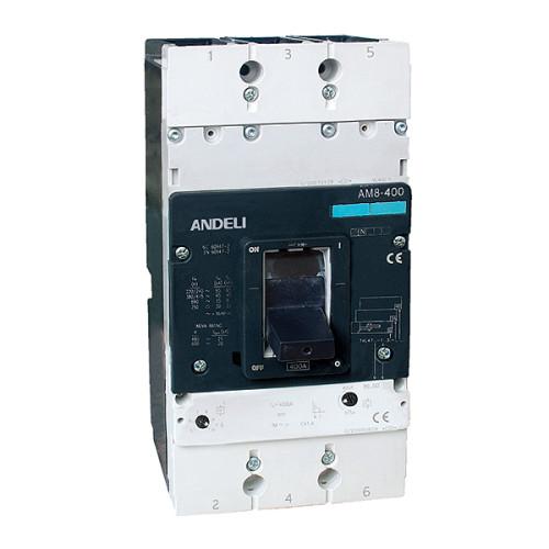 Автомат выключатель ANDELI AM8-400X 3P 400A