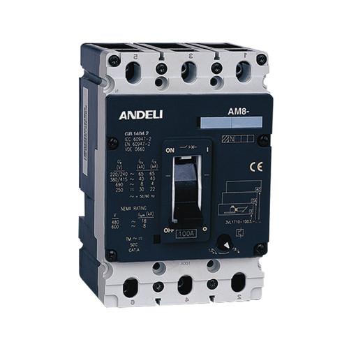 Автомат выключатель ANDELI AM8-160X 3P 100A