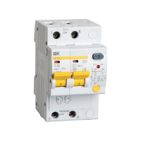 Дифференциальный автомат IEK АД12М 2P С16 30мА