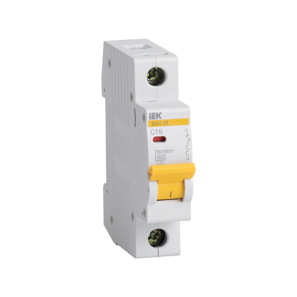 Автомат выключатель модульный IEK ВА 47-29 1P 16А  4,5кА