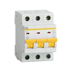 Автомат выключатель модульный IEK  ВА 47-29 3P 6А 4,5кА