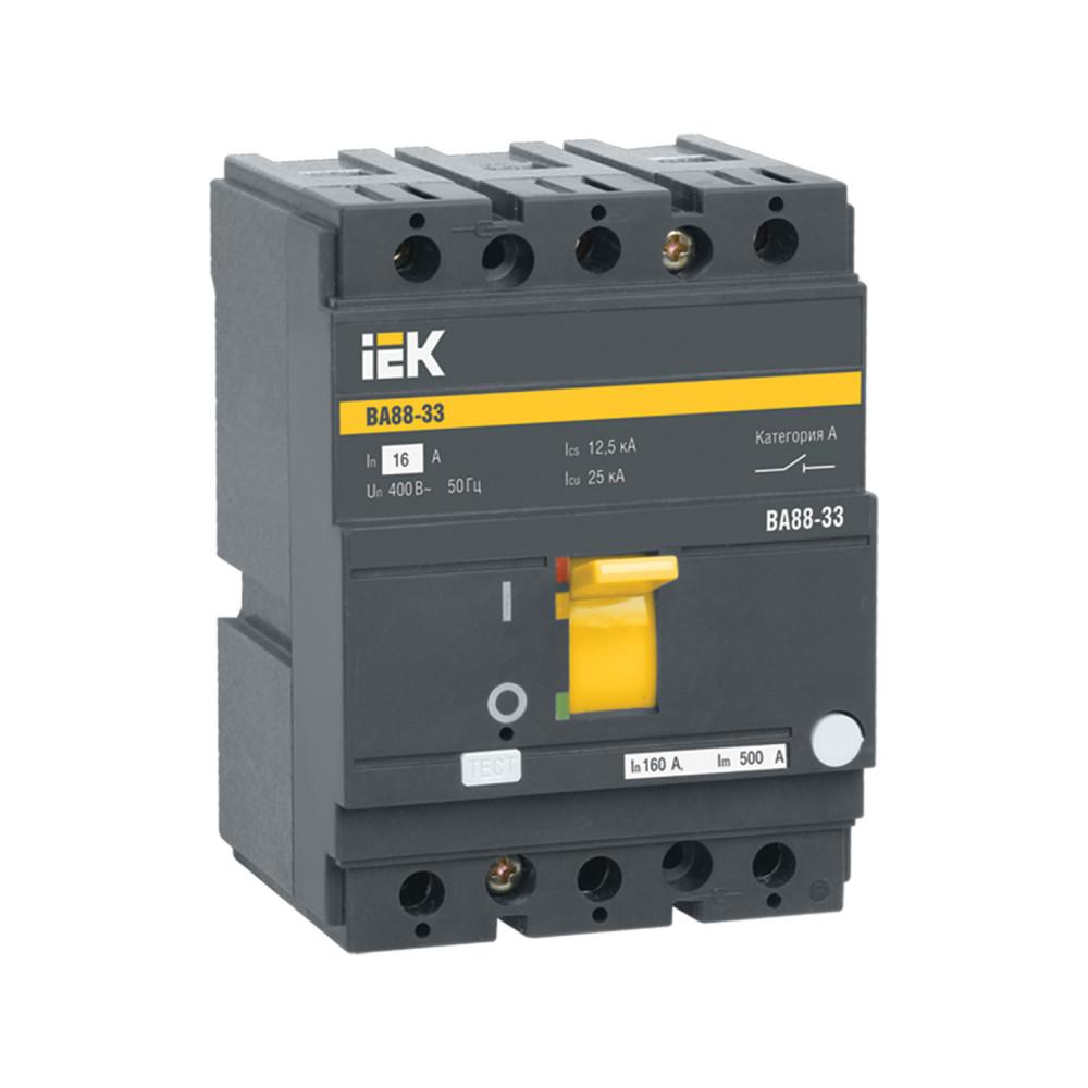 Автомат выключатель силовой IEK ВА88-33 3Р 100А 25кА