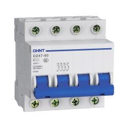 Автомат модульный CHINT DZ47-60 4P на 10А, 16А, 25А, 32А, 40А