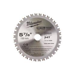 Диск пильный по металлу Milwaukee 150x20 Z34
