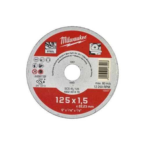 Диск отрезной Milwaukee SCS 41/125x1,5
