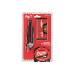 Рулетка набор 5м Premium + нож 18мм + уровен minbox