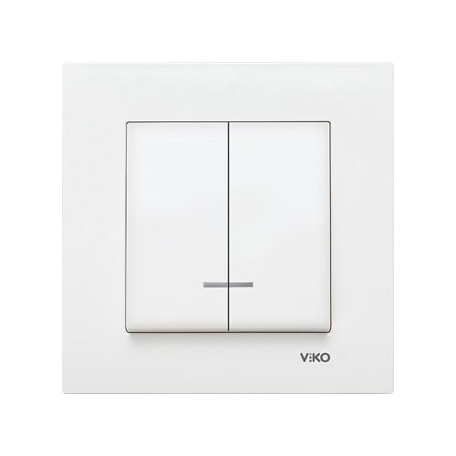 Выключатель VIKO KARRE с индикатором двойной