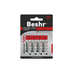 Батарейка BESHR POWER ONE ALKALINE 4B AA LR6 1.5V