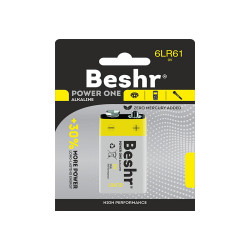 Батарейка BESHR POWER ON ALKALINE  1B 9V 6LR61 9v