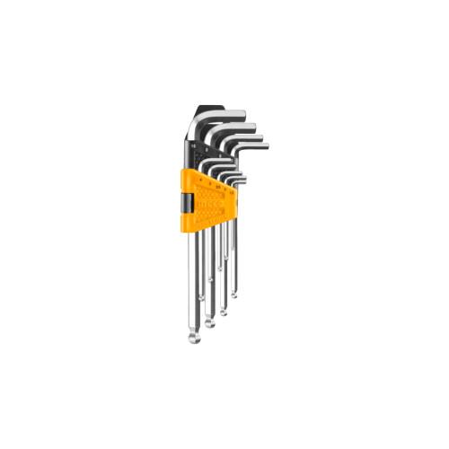 Набор шестигранных ключей с шаром INGCO HHK 12092