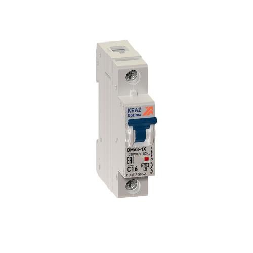 Автомат выключатель KEAZ OptiDin BM63-1C1-УХЛ3