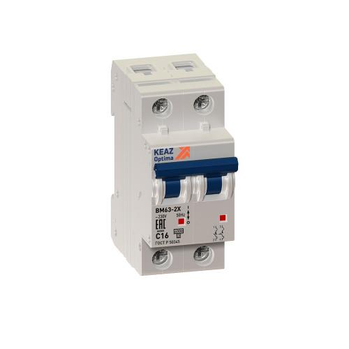 Автомат выключатель KEAZ OptiDin BM63-2C10-УХЛ3