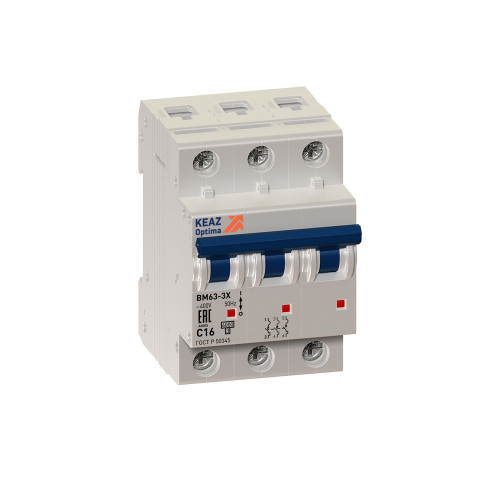 Автомат выключатель KEAZ OptiDin BM63-3C10-УХЛ3